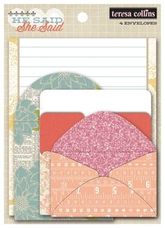 He Said She Said - Envelopes Teresa Collins Designs