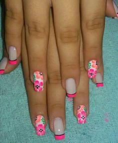 Flower Nails, Make Color, Spring Nails, Toe Nails, Beauty Nails, Pretty Nails, Pedicure, Simple Designs, Nail Designs