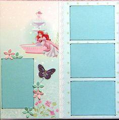 12x12 double page scrapbook layout Disney's Ariel