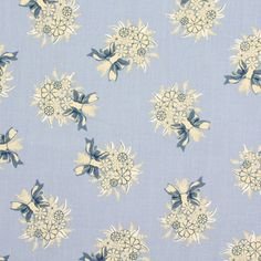 Véro's World – Country Bouquet 3 - Baumwolle - hellblau