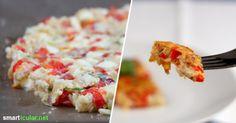Pizza muss nicht viele Kohlenhydrate haben. Diese vegetarische Pizza-Alternative ist in nur 10 Minuten vorbereitet und kommt ganz ohne Weißmehl aus.