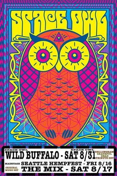 Space Owl gig poster