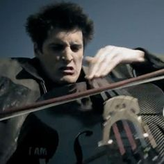 This is Luka Sulic and Stjepan Hauser and they are about to play a rousing cover of Guns n Roses' Welcome to the Jungle on 2 cellos.