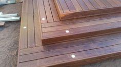 Merbau deck steps with decking lights