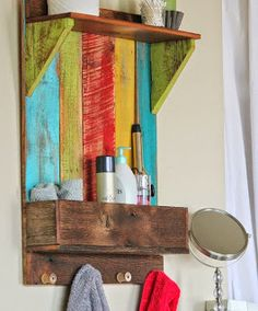 Bathroom Wall Caddy Made From Pallets