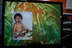 finger painting for a cute mothers or fathers day gift