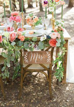 Sillas de madera para decorar en bodas