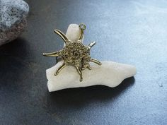 Sea slug brass adjustable ring by myxstore on Etsy, $5.00