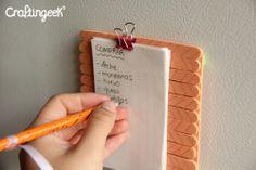 Craftingeek*: Notas magneticas: Manualidad día de las madres