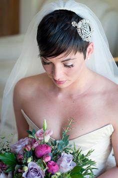 Wedding Short Hair Bride http://www.sarareeve.com/