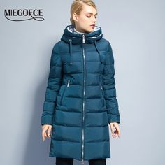 Miegofce Cotton Padded Female Jackets Windproof Women Parkas Neck With Hood Winter Coat - CoolTrendyStuff