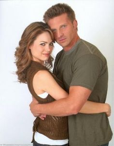 Elizabeth Webber and Jason Morgan (Rebecca Herbst and Steve Burton).