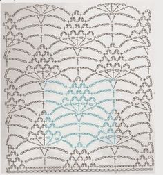 from Inside crochet issue 2017 Crochet Stitches Chart, Crochet Motif Patterns, Crochet Borders, Crochet Diagram, Thread Crochet, Crochet Scarves, Knitting Stitches, Crochet Doilies, Crochet Clothes