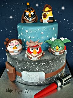 Photo 5 of 6 Star Wars Cake, Star Wars Party, Cupcakes, Cupcake Cakes, Angry Birds Cake, Cool Cake Designs, 1st Birthday Cakes, Star Wars Birthday, Novelty Cakes