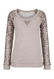Sequin sleeve scoop neck sweatshirt - maurices.com