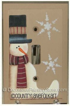 The Decorative Painting Store: Frosty Switchplate Cover Pattern by Becky Levesque