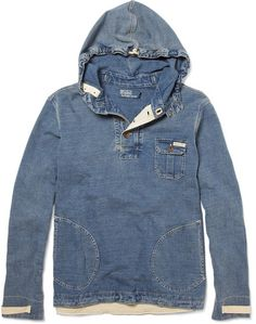 RRL - engineered indigo hodie