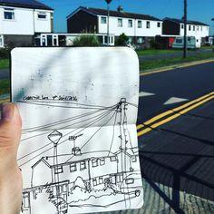 Opposite the waterworks  #walthamstow #e17 #drawing #draw #doodle #pigmamicron #illustration #ink #sketchpad #sketch #sketchbook #art #Drawings #Drawingoftheday #Drawingaday #Instadraw #Instadrawing #Sketching #Sketches #Sketchaday #Creative #urbansketching #urbansketch #instasketch #sketchaday #sketchersofinstagram  #moleskine #sketchwalker #benbrignell