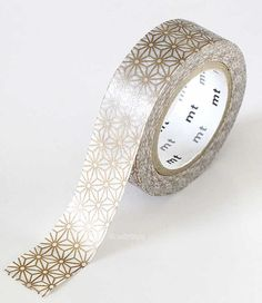 Holiday GOLD STAR Japanese Washi Tape 15mm MT by PrettyTape, $4.00
