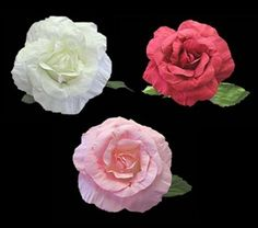 Giant Paper Roses - Large Flowers for Decorating- Stage Props