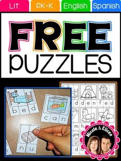 PRODUCT SAMPLERWe're giving away this sampler for free for you to try out some of our self-correcting puzzles with your students. If you like this sampler, you might also like our puzzle packsCompound Word Puzzles - EnglishCVC Word Puzzles - EnglishSyllable Puzzles - SpanishTERMS OF USEThis resource was designed and copyrighted by Nicole and Eliceo Sanchez.