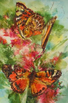 Karlyn Holman-Watercolor paintings, classes and Karlyn's Gallery in Washburn Wisconsin. Watercolor Bird, Watercolor Paintings, Watercolors, Butterfly Art, Butterflies, Bee Painting, Painting Gallery, New Mexico, Art Boards