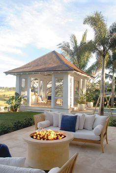 Great firepit at eye level