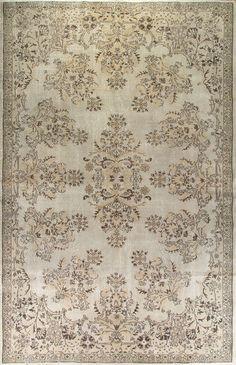 7'4 x 11'6 224 x 351 cm Turkish Antique Washed  Rug by Zorlus
