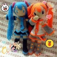 Irresistible Crochet a Doll Ideas. Radiant Crochet a Doll Ideas. Crochet Dolls Free Patterns, Crochet Doll Pattern, Doll Patterns, Crochet Patterns Amigurumi, Amigurumi Doll, Crochet Toys, Hatsune Miku Doll, Cute Crochet, Stuffed Toys Patterns