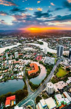 Sunset from floor, Skypoint Australia. Just Go, To Go, Gold Coast, Australia, River, Sunset, Places, Floor, Outdoor