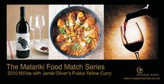 Jamie Oliver's Pukka Yellow Curry with Matariki 2010 Nō'ble Pukka, Jamie Oliver, Chana Masala, Curry, Wine, Fresh, Yellow, Ethnic Recipes, Food