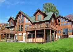 Heart's Desire - gorgeous 8 bedroom lakefront log home that is ideal for a ceremony by the water!