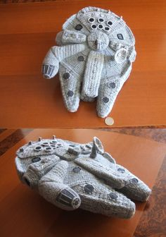 NO PATTERN - but so amazing. Crochet, Amigurumi Millenium Falcon (Star Wars) by Belén R.