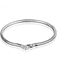 Classic Silver Plated Snake Chain Bracelet ($5.95) ❤ liked on Polyvore featuring jewelry, bracelets, silver plated jewelry and silver plating jewelry
