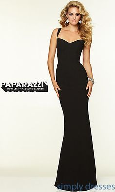 Mori Lee 97099 Sleek Backless Prom Gown at SimplyDresses.com