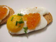 salmon and quail eggs