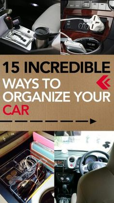 ideas diy organization hacks car cleaning for 2019 Organisation Hacks, Storage Organization, Car Storage, Car Cleaning Hacks, Car Hacks, Cleaning Quotes, Hacks Diy, Organize Life, Organize Car