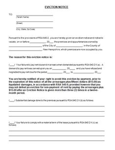 Eviction Notice Letter Sample Template 37 Free Documents In Pdf Word Form 30 Day To Vacate Tenant