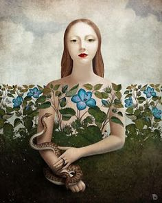 """Eva and the Garden "" Digital Art by Christian Schloe posters, art prints, canvas prints, greeting cards or gallery prints. Find more Digital Art art prints and posters in the ARTFLAKES shop. Art And Illustration, Art Brut, Inspiration Art, Canvas Prints, Art Prints, Surreal Art, Art Plastique, Oeuvre D'art, Graphic"