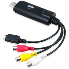 August VGB100 USB 2.0 Video Capture Device Card - Grabber Lead to Convert VHS / S Video / RGB via USB Transfer Cable - For Windows 7 / Vista / XP by August. $24.45. The AUG VGB100 USB 2.0 S-Video/Composite video Capture Cable lets you connect devices that output S-Video or Composite video to a computer through an available USB 2.0 port. The cable also features two channel RCA stereo audio inputs that let you capture the audio accompanying the S-Video or Composite video signal. ...