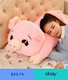 1pc 45cm Cute Plush Hamster Pillow Stuffed Soft Plush Pillow Cushion Bedroom Decoration Birthday Gifts Girls Gifts Kids Gifts Toys & Hobbies Stuffed Animals & Plush