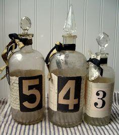 vintage numbers on altered bottles