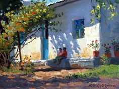 Sitting In The Shade Painting ~ Roelof Rossouw