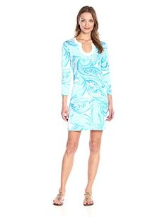 Lilly Pulitzer Women's Marlina Dress Sea Ruffles - http://darrenblogs.com/2016/04/lilly-pulitzer-womens-marlina-dress-sea-ruffles/