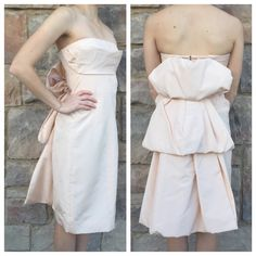 MARC JACOBS Pink Strapless Dress with Layered Back Beautiful pale pink Marc Jacobs strapless dress with draped back. Marc Jacobs Dresses Strapless