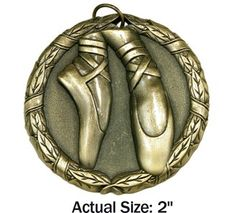 Dance Medal - Available in Gold, Silver, and Bronze.