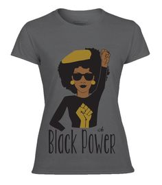 Black Power Tee  See size chart for accuracy in shirt size. For more question…