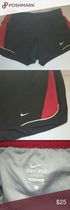 Nike Dri-Fit Raspberry Running Shorts Cute running shorts from Nike with Raspberry mesh. Very resilient and great for all sorts of sports. Only worn a few times, and have no stains or visible wear. Nike Shorts