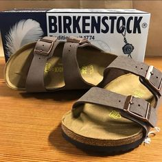 The often imitated, never duplicated, category-defining, two-strap wonder from Birkenstock. A comfort legend and a fashion staple. With adjustable straps and a magical cork foot bed that conforms to t