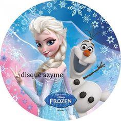 1 disque azyme reine des neiges Tresse Elsa Rond 20 cm